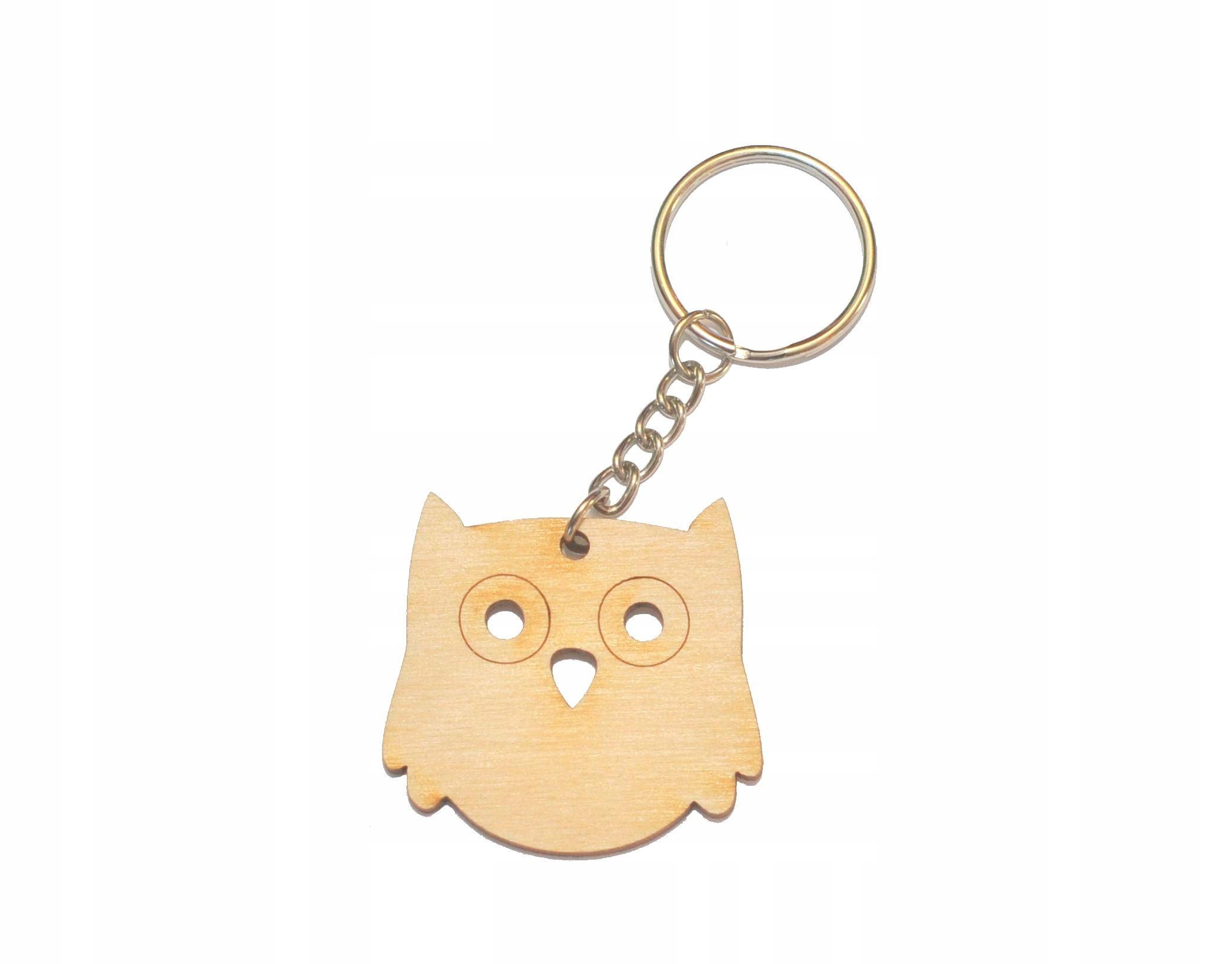 Item KEYCHAIN OWL KEYCHAIN owl OWL keychains plywood