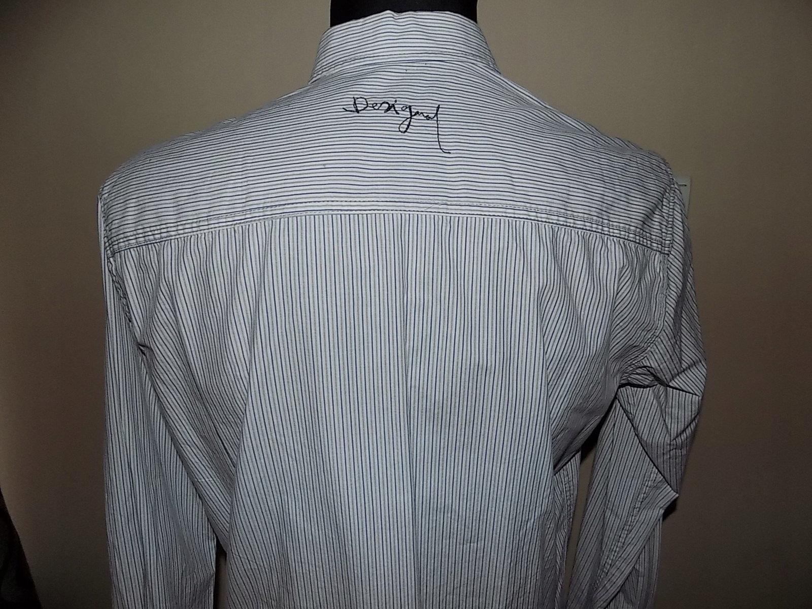 Desigual koszula męska L 41 napisy paski 7695393592 Allegro.pl  KvJ4T