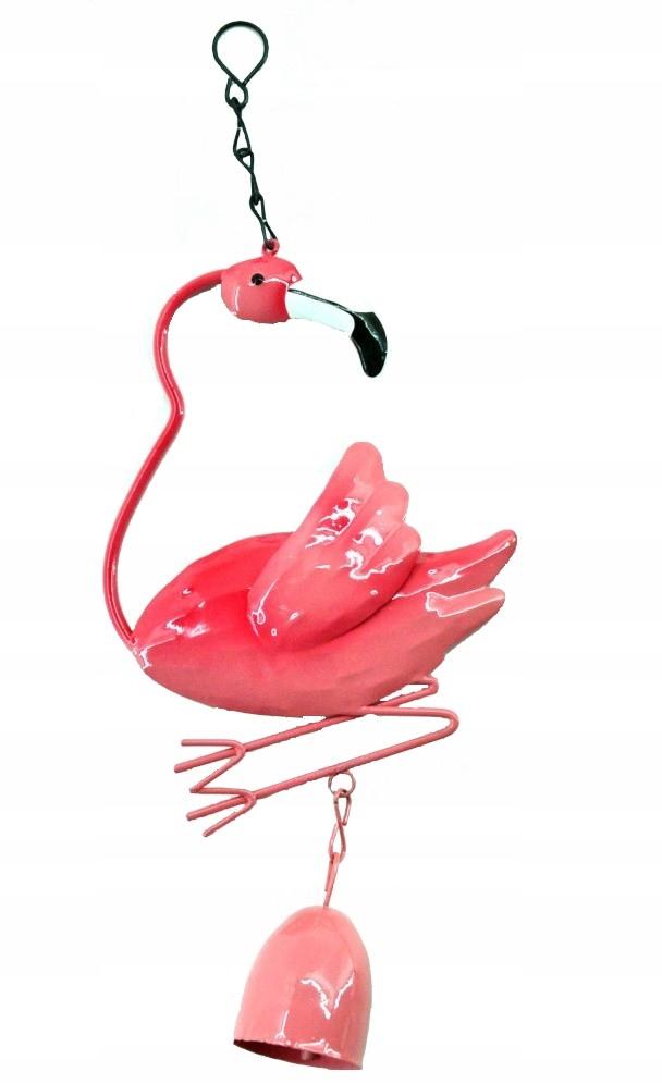 Фламинго для сада на цепочке с колокольчиком, ХИТ!