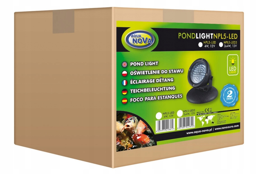Aqua Nova Lampa Oświetlenie do OCZKA NPL5-LED3