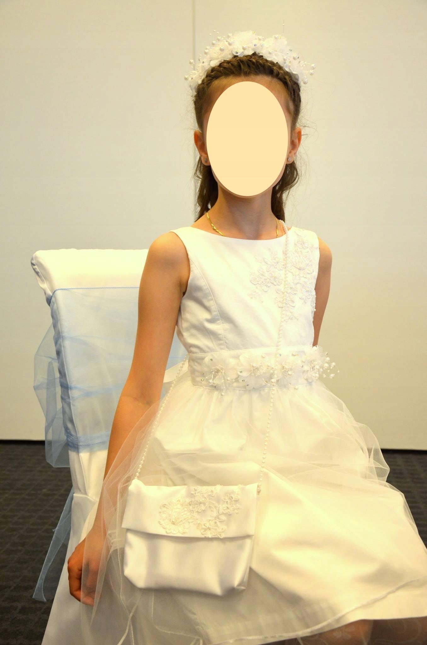 Komunia Sukienka Komunijna Dodatki Komplet 8 Cz 9063679321 Allegro Pl