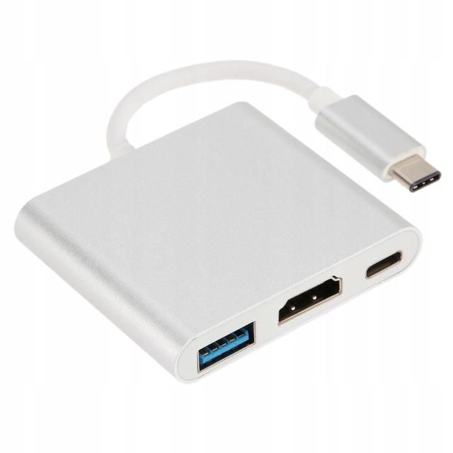 Купить Адаптер Адаптер 3 в 1 HUB с USB-C на HDMI для MacBook на Otpravka - цены и фото - доставка из Польши и стран Европы в Украину.