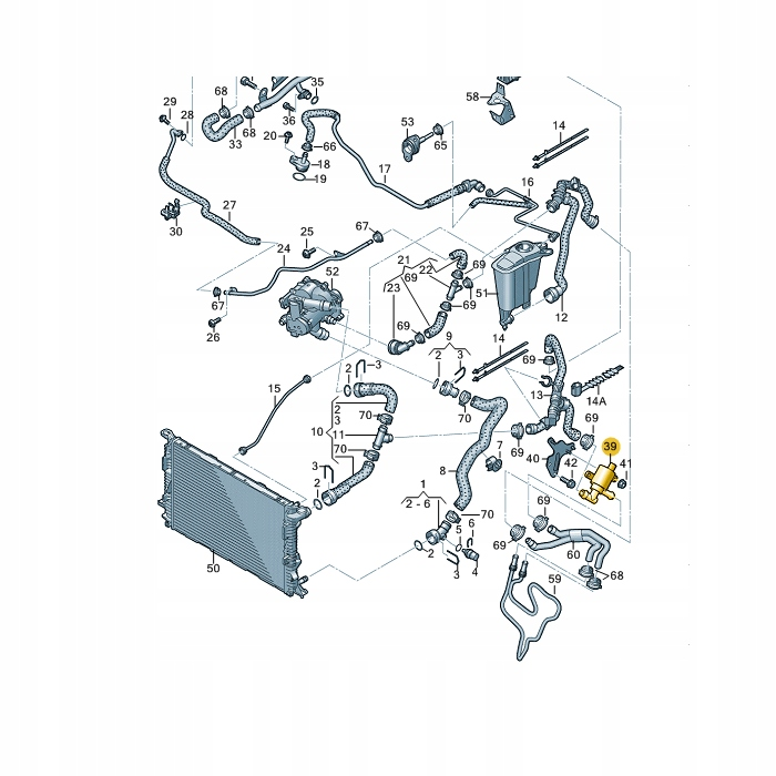 клапан электромагнитный воды audi vw 4h0121671d