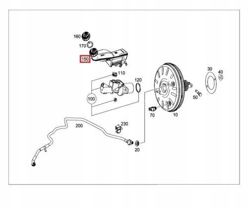 бачок жидкости тормоза mercedes w117 x156