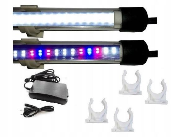 led lampa pre akvárium 2 x 120 cm, dvojité trubice