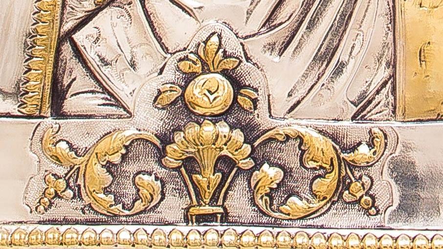 Ikona Matki Bożej Bogolubskiej SREBRO ZŁOTO nr 39 Informacje dodatkowe certyfikat autentyczności