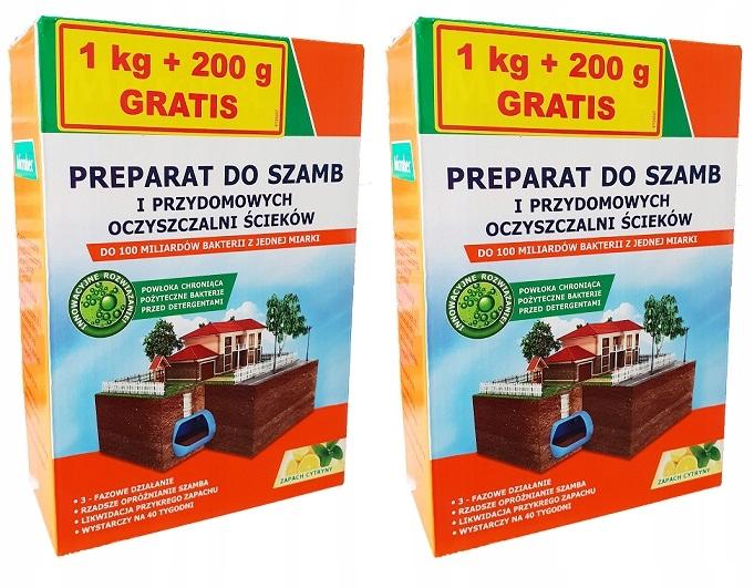 2x MICROBEC ULTRA BAKTERIE DO SZAMB 1kg+200gGRATIS
