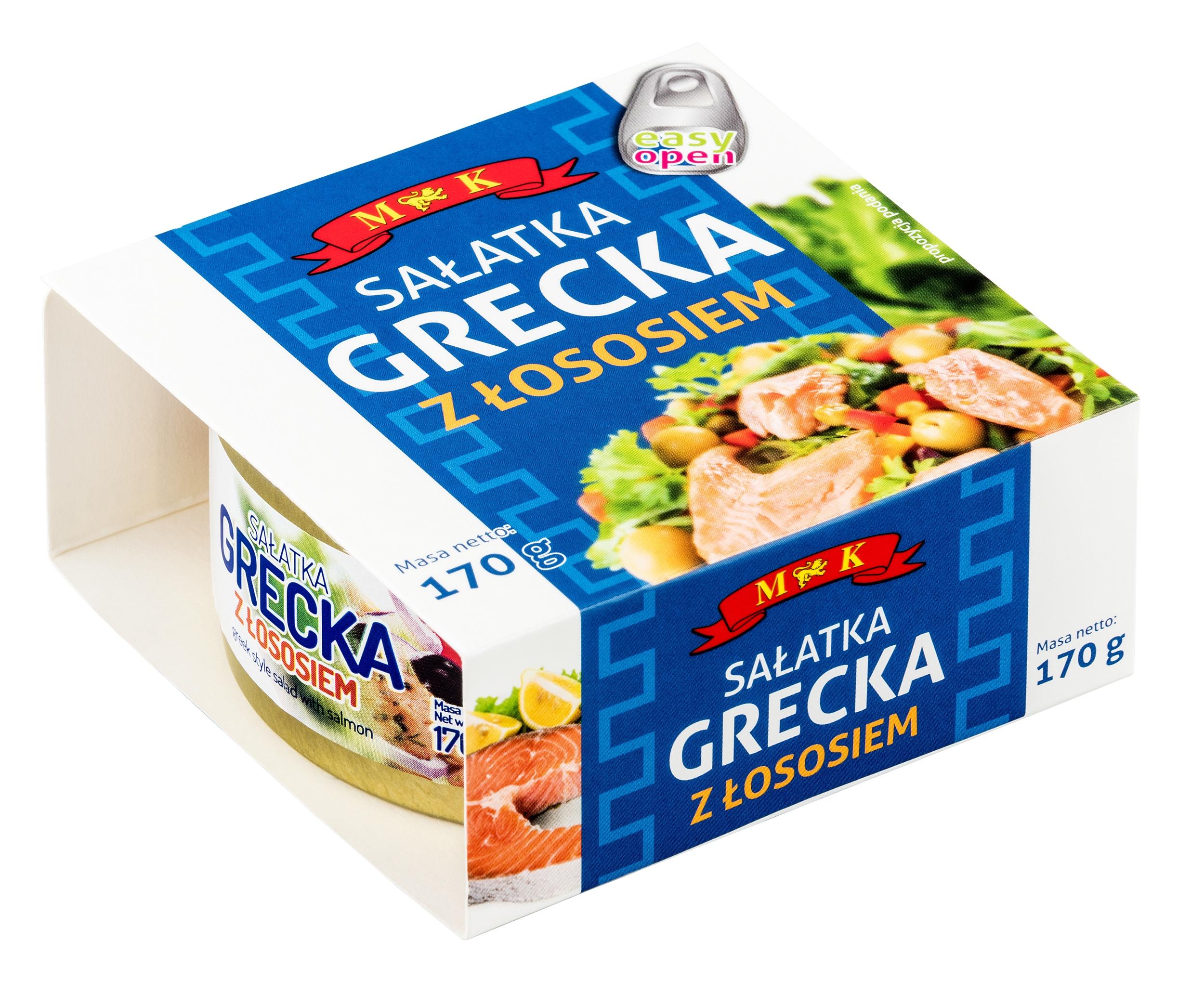 Купить Греческий салат с Лососем 170г. МК на Otpravka - цены и фото - доставка из Польши и стран Европы в Украину.