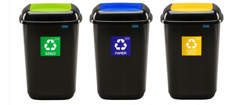 Набор Корзин 3 x 12l для сортировки мусора,отходов
