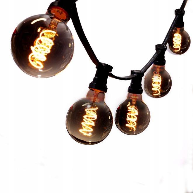 VLKOVCOVÝ svetlo 5 mb +5 LED Čierna Vintage G125