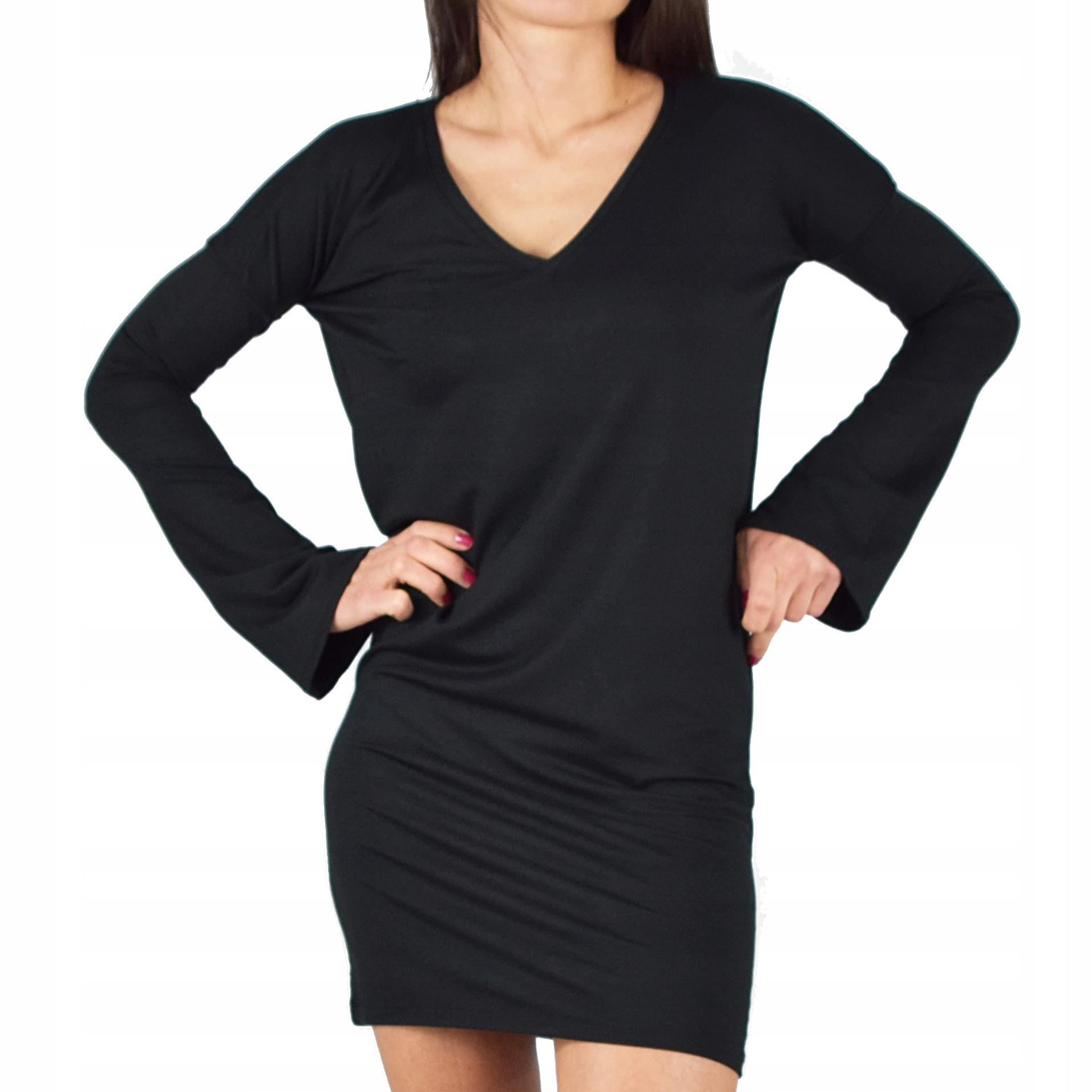 4XL _ Ivon czarna sukienka Collibri 413
