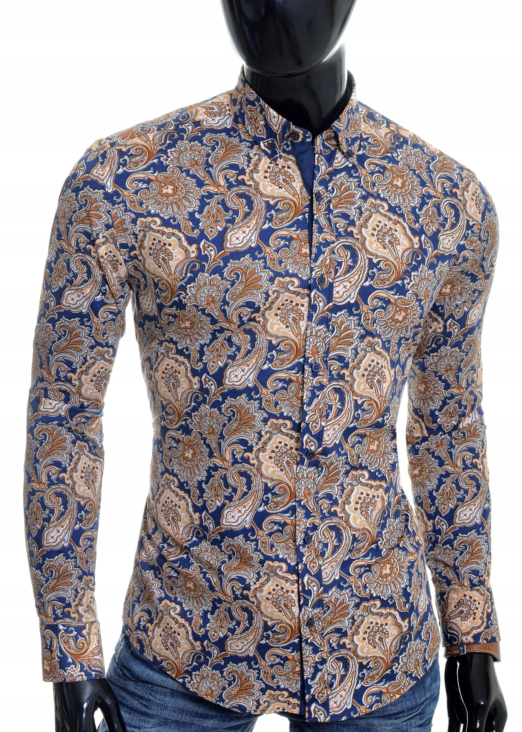 Koszula Męska Cipo Baxx Casual Elegancka NOWOŚĆ 7801908877