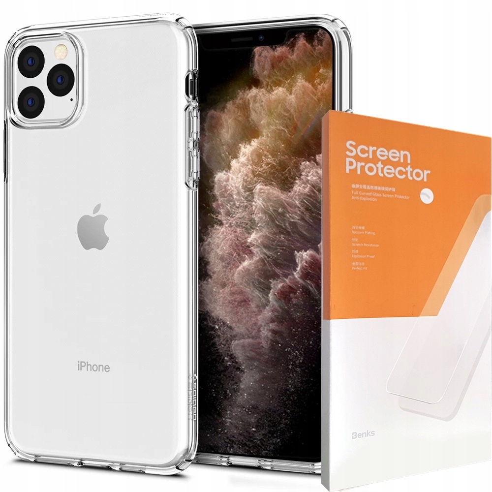 Etui Do Iphone 11 Pro Max Spigen Liquid+szkło Vpro