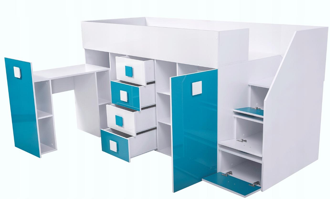 кровать кровать мезонин с рабочим столом TOLEDO 3