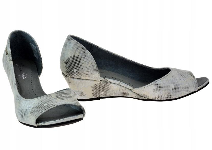 Czółenka Maciejka 2919 kwiaty 39 skóra soft buty