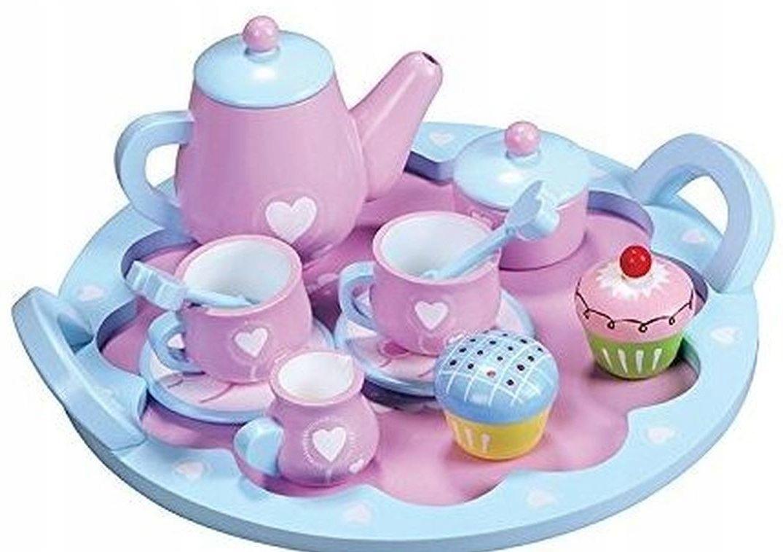 Čajová súprava 12el Drevené poháre na tácke