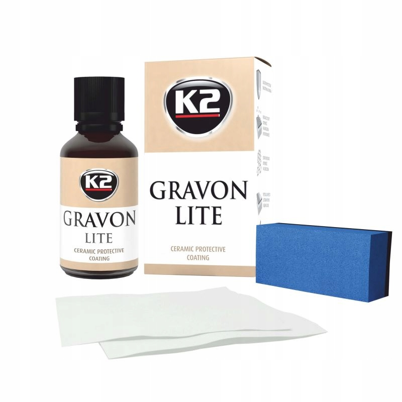 Керамическое покрытие К2 GRAVON LITE, защита лакокрасочного покрытия