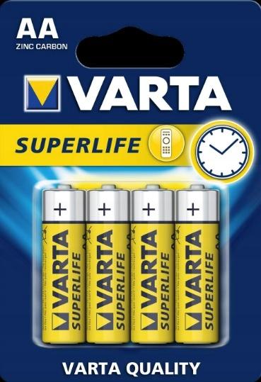VARTA SUPERLIFE AA R6P 4 ШТ КОМПЛЕКТ