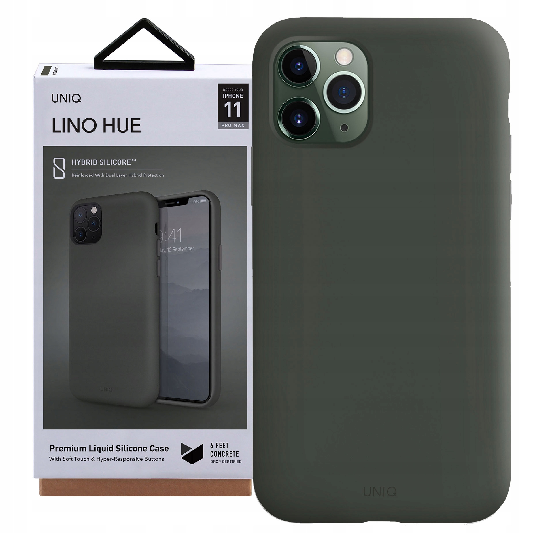 Etui Uniq do iPhone 11 Pro Max, case pokrowiec, Lh