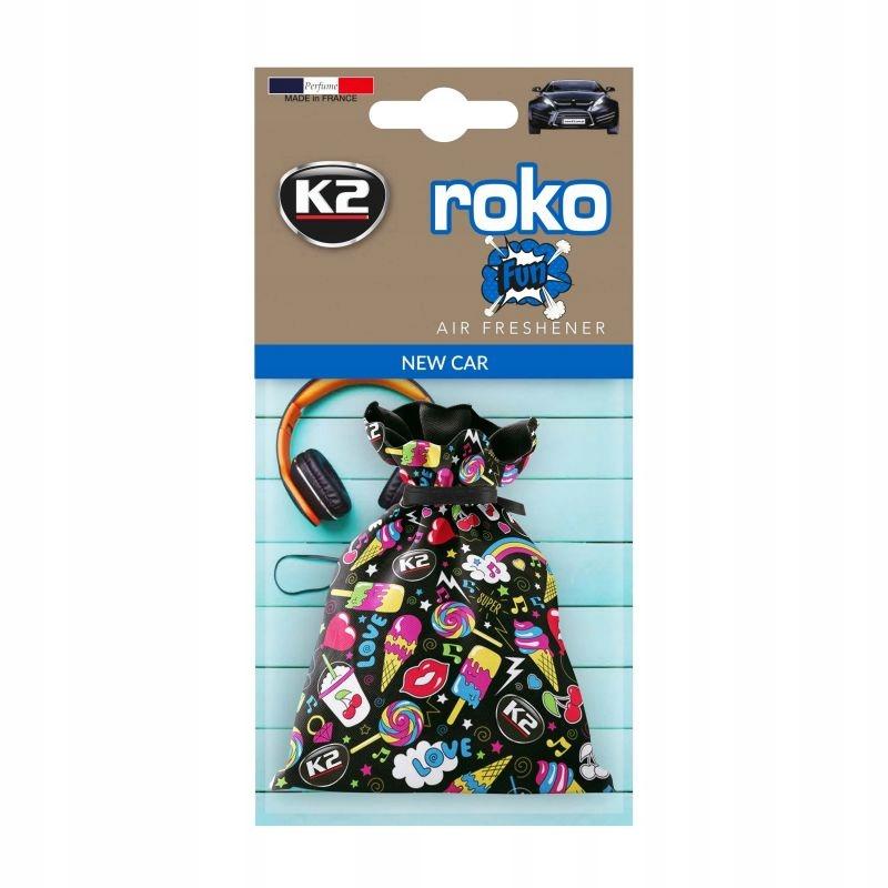 K2 ROKO FUN запах НОВОГО АВТОМОБИЛЯ NEW CAR мешочек