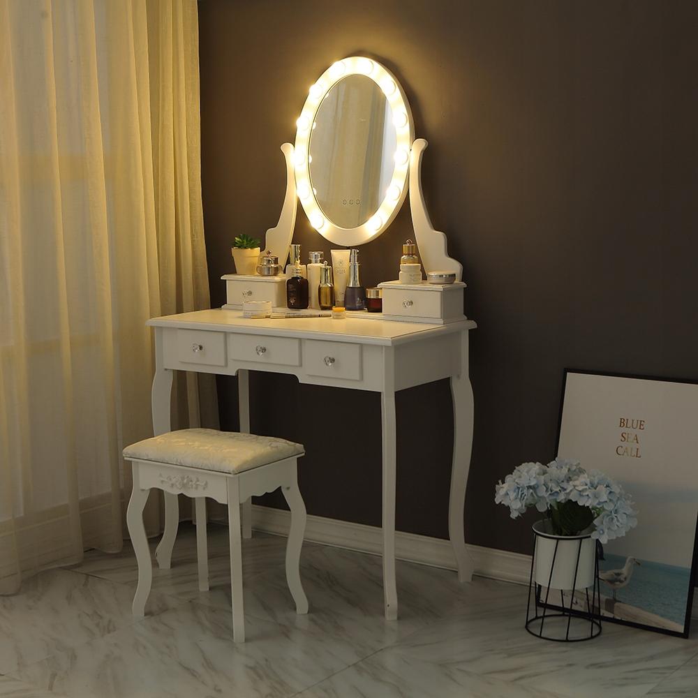 KOZMETICKÉ WC WC S LED ZRKADLOM BIELE + STOLICA Hĺbka nábytku 40 cm