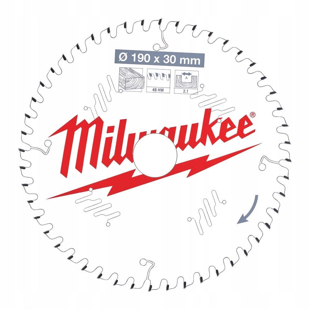 MILWAUKEE Tarcza Widiowa Pila do drewna 190mm 48z 8925221583 ...