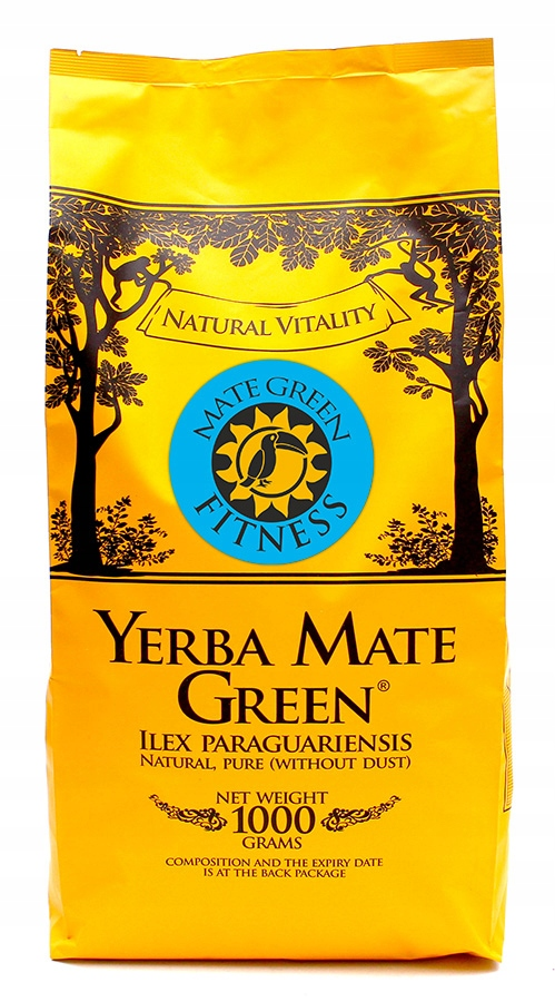 Yerba Mate green ФИТНЕС-1000g Despalada 1кг FIT