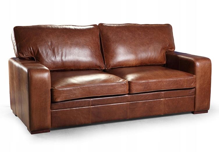 Rozkladacia pohovka, gauč EsteliaStyle Fanúšik kožené 3os Vintage