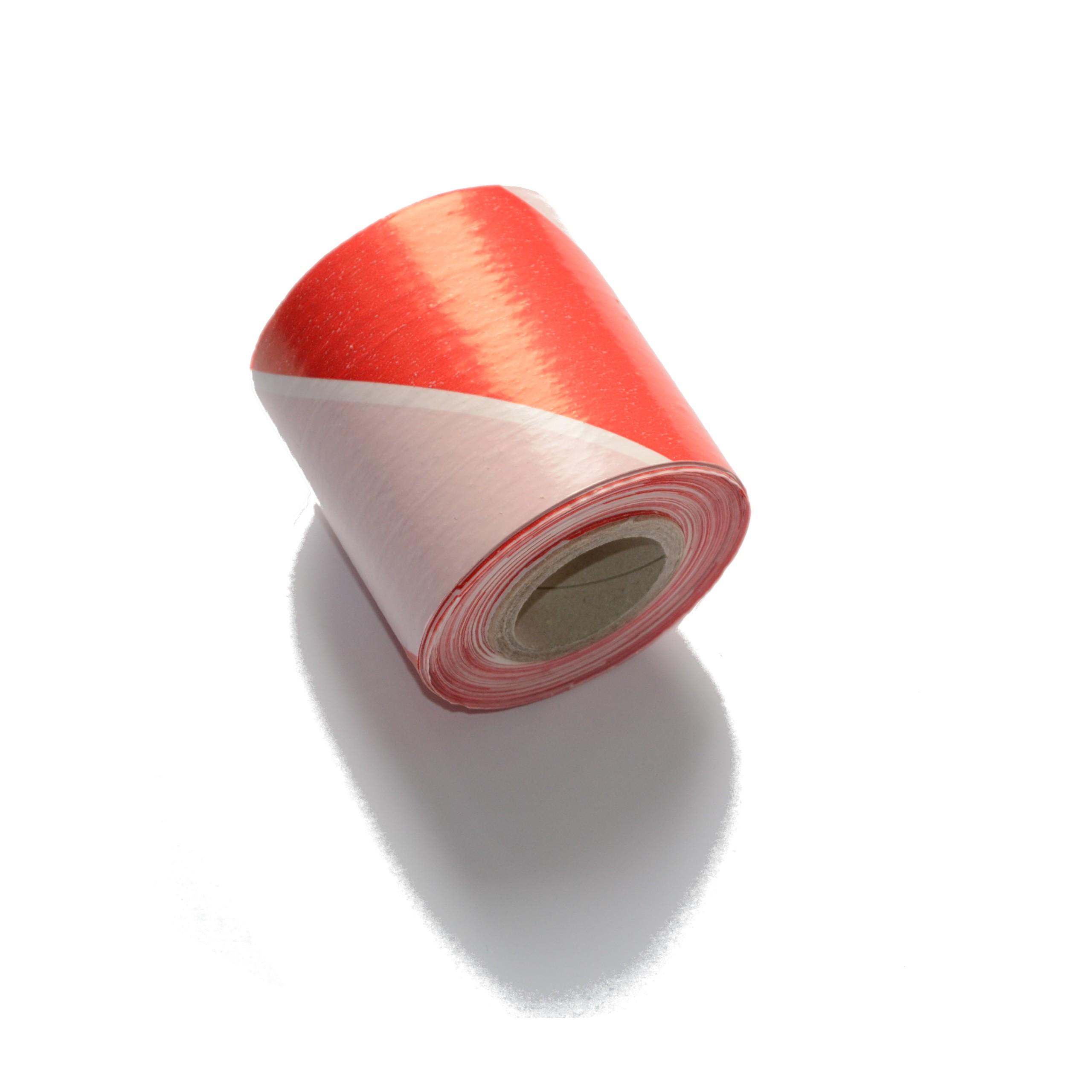 Лента оградительная бело-красная, ~84мм 200м