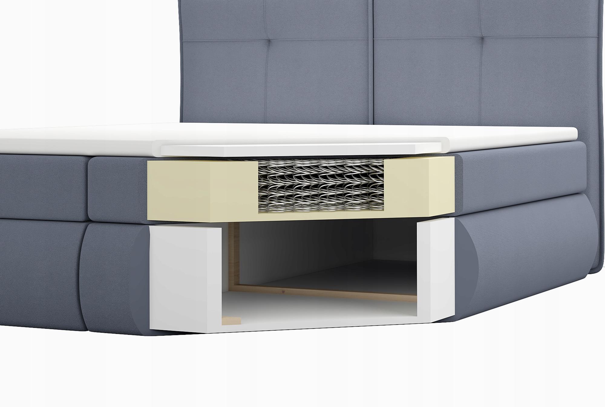 łóżko Kontynentalne 180x200 młodzieżowe OTI Typ łóżka materac w komplecie z zagłówkiem ze stelażem pojemnik na pościel otwierany do góry nie dotyczy
