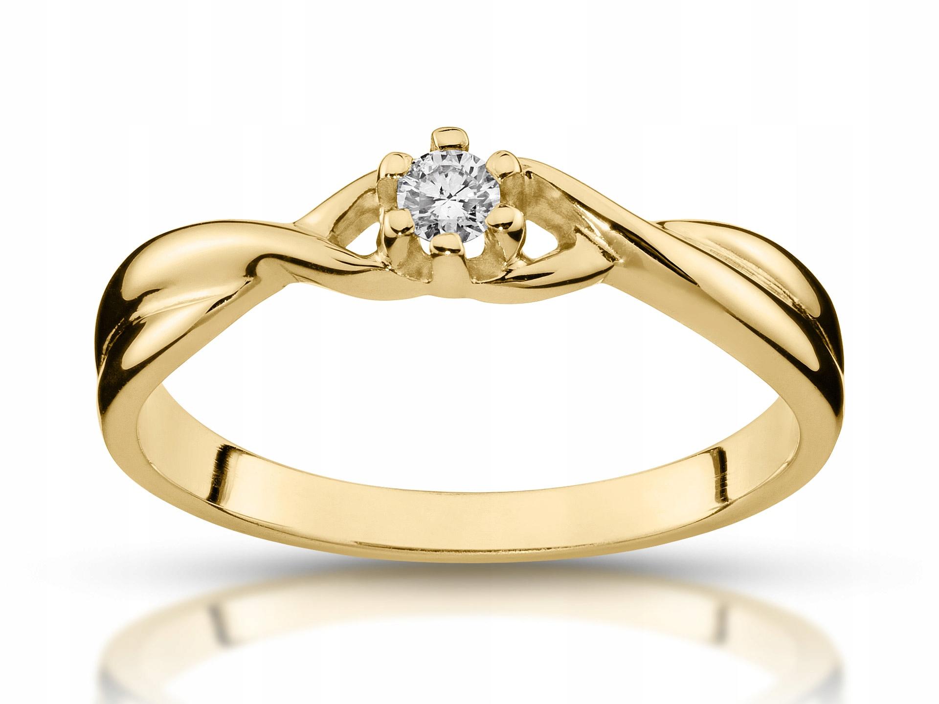 Zásnubný prsteň s diamantom 0,06 ct 585 Vs