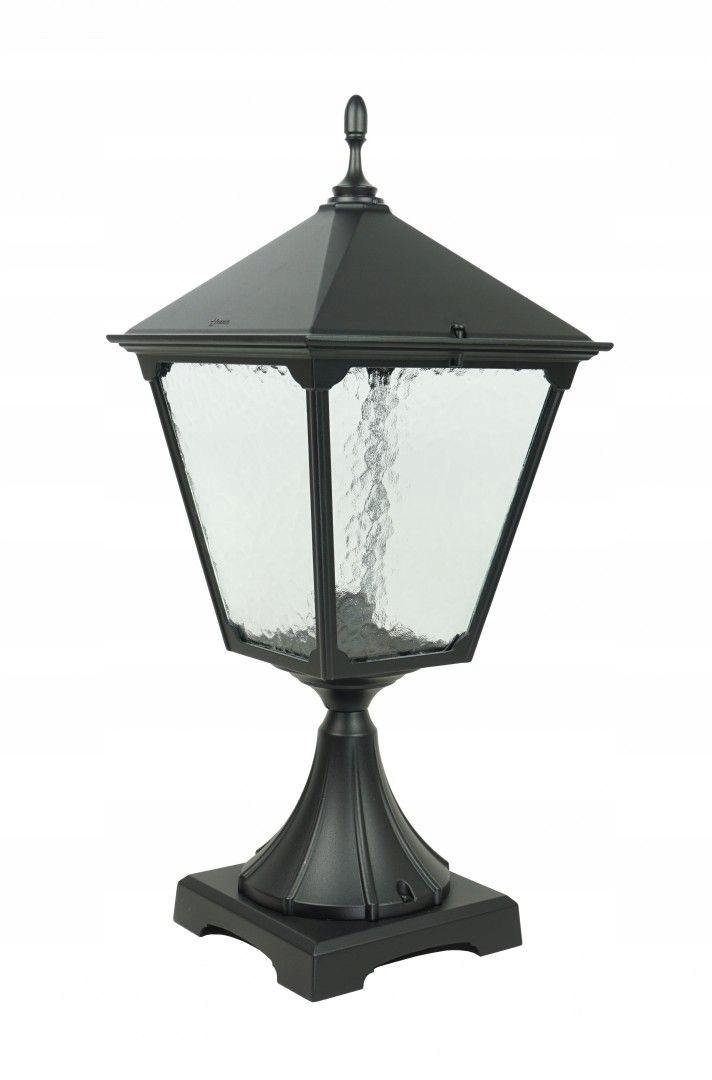 Záhradná lampa stojaca Retro hranatý stĺp