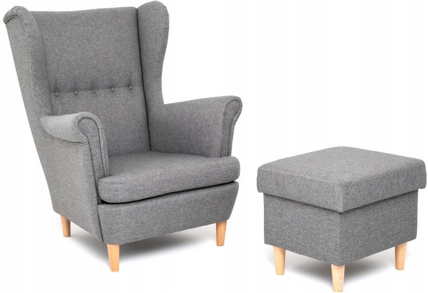 Кресло   Стиль скандинавский с подставкой для ног