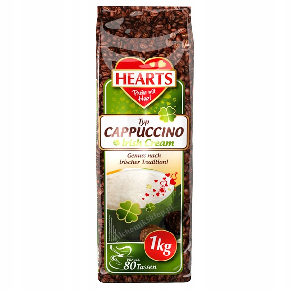 Hearts 1KG cappuccino IRISH CREAM