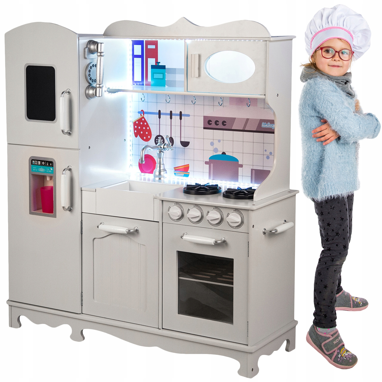 Kinderplay Drewniana Kuchnia Dla Dzieci Swiatlo 8353846050 Allegro Pl