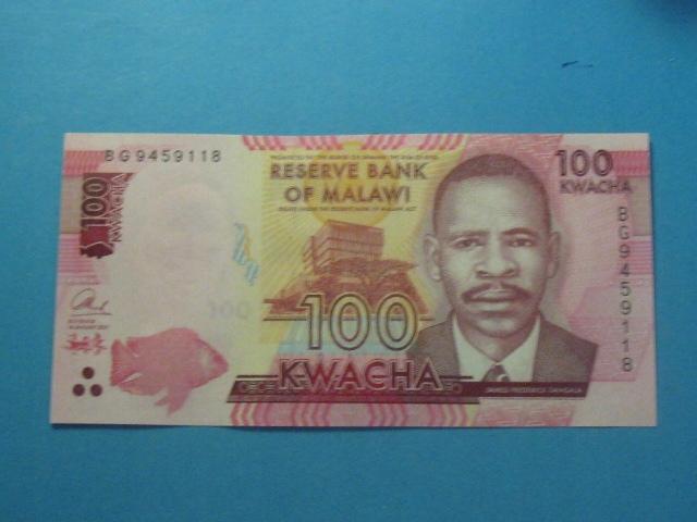 Malawi Banknot 100 Kwacha P-65c UNC 2017