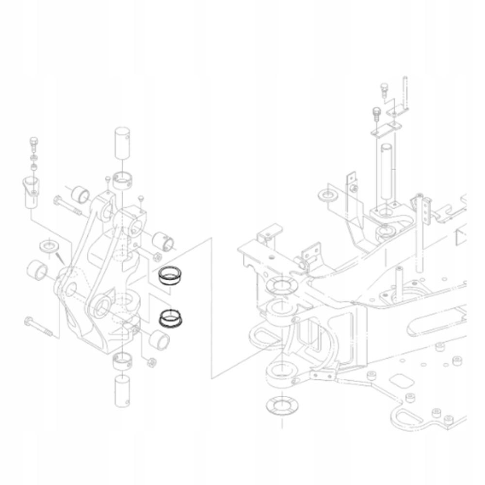 KUBOTA RG138-66380 Втулка задней бабки экскаватора KX018