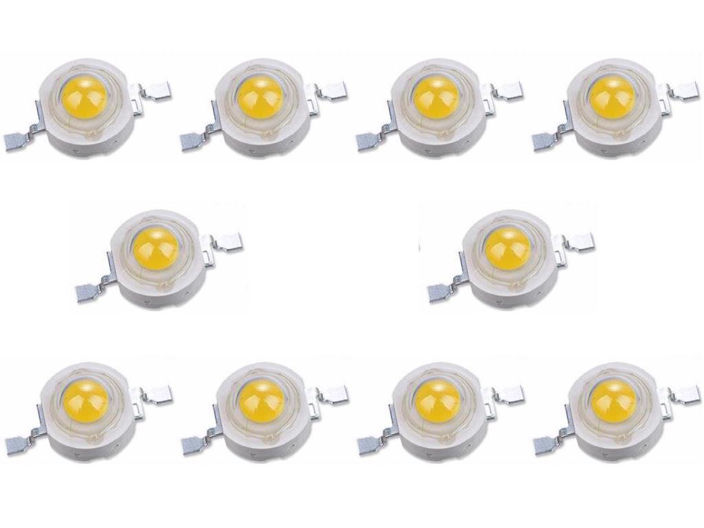 POWER LED 1W WHITE 6500K EPISTAR 10шт