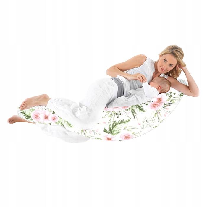 3w1 Poduszka ciążowa rogal do spania i karmienia