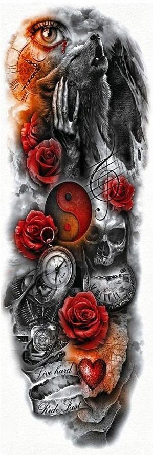 Tatuaz Rekaw Róże Vendoriapl