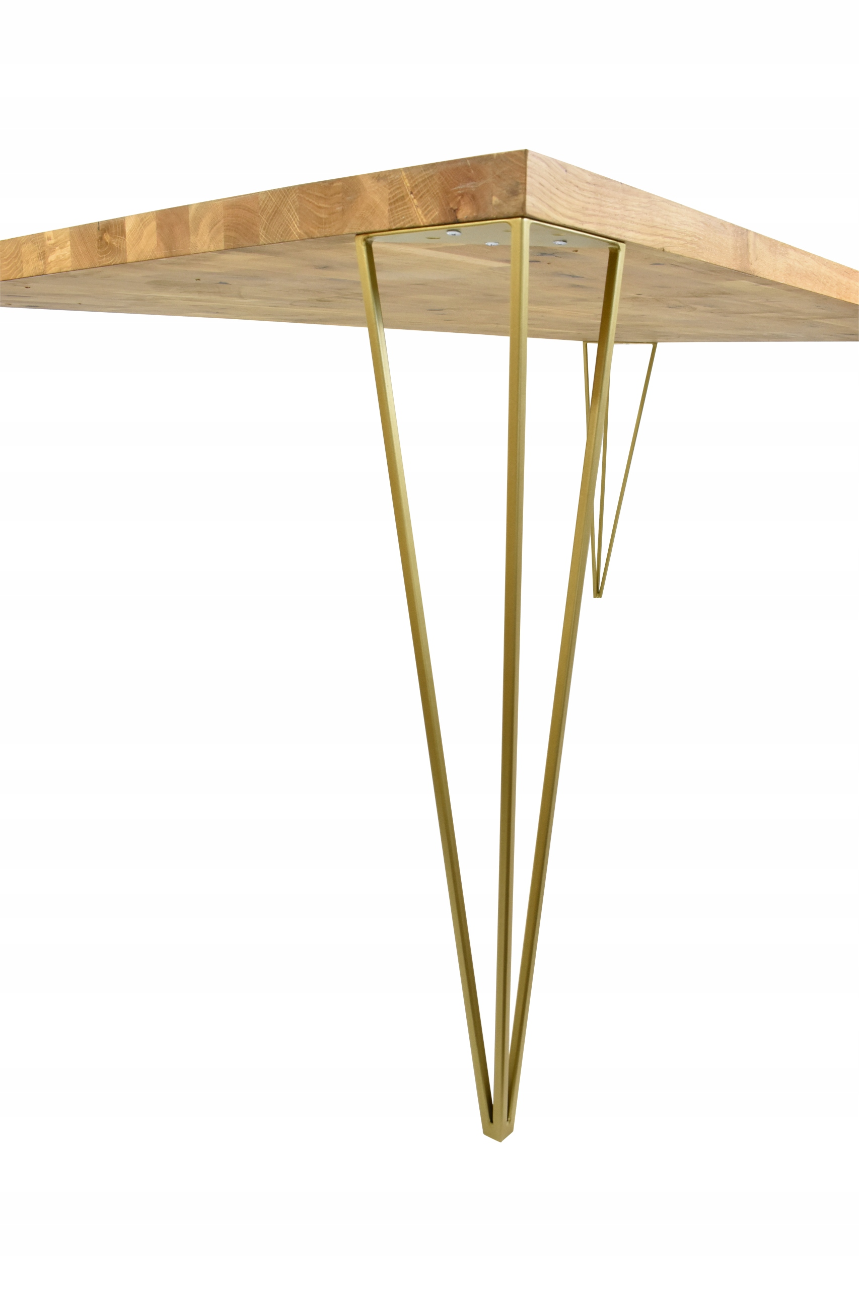 Nogi metalowe do biurka Loft Industria No14 złota