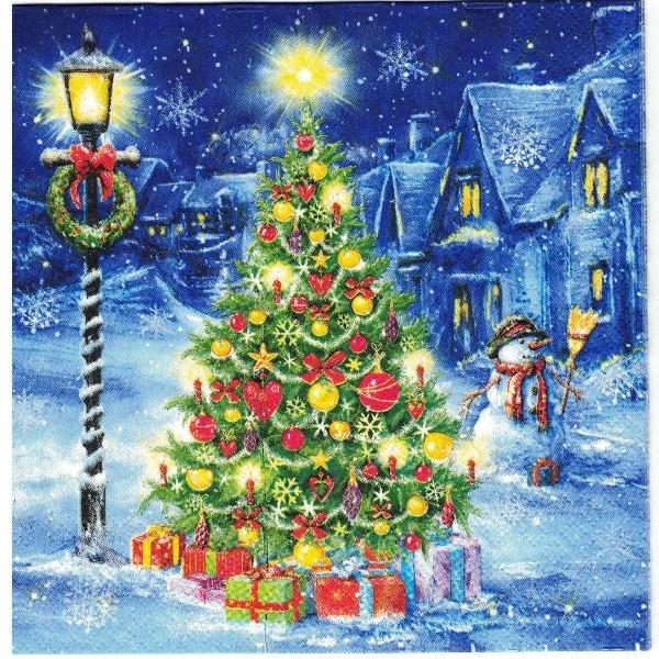 Купить Салфетка для декупажа рождественская ЕЛКА НОЧЬЮ 2ШТ на Otpravka - цены и фото - доставка из Польши и стран Европы в Украину.