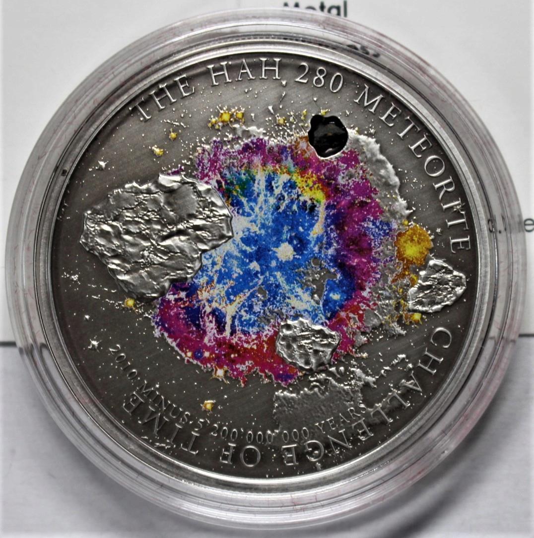 Wyspy Cook'a 5 dolarów 2010 meteoryty SREBRO st.1