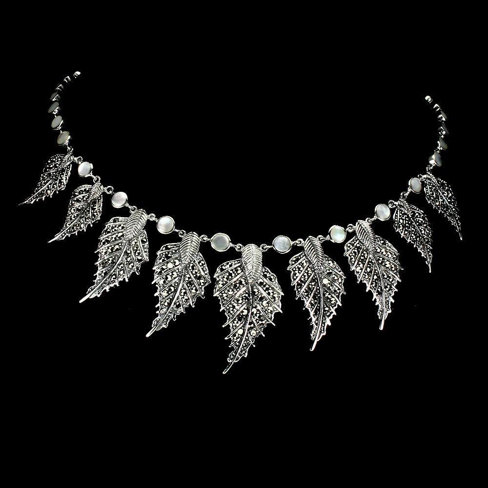 Strieborný náhrdelník prírodné perly 925 markazyty