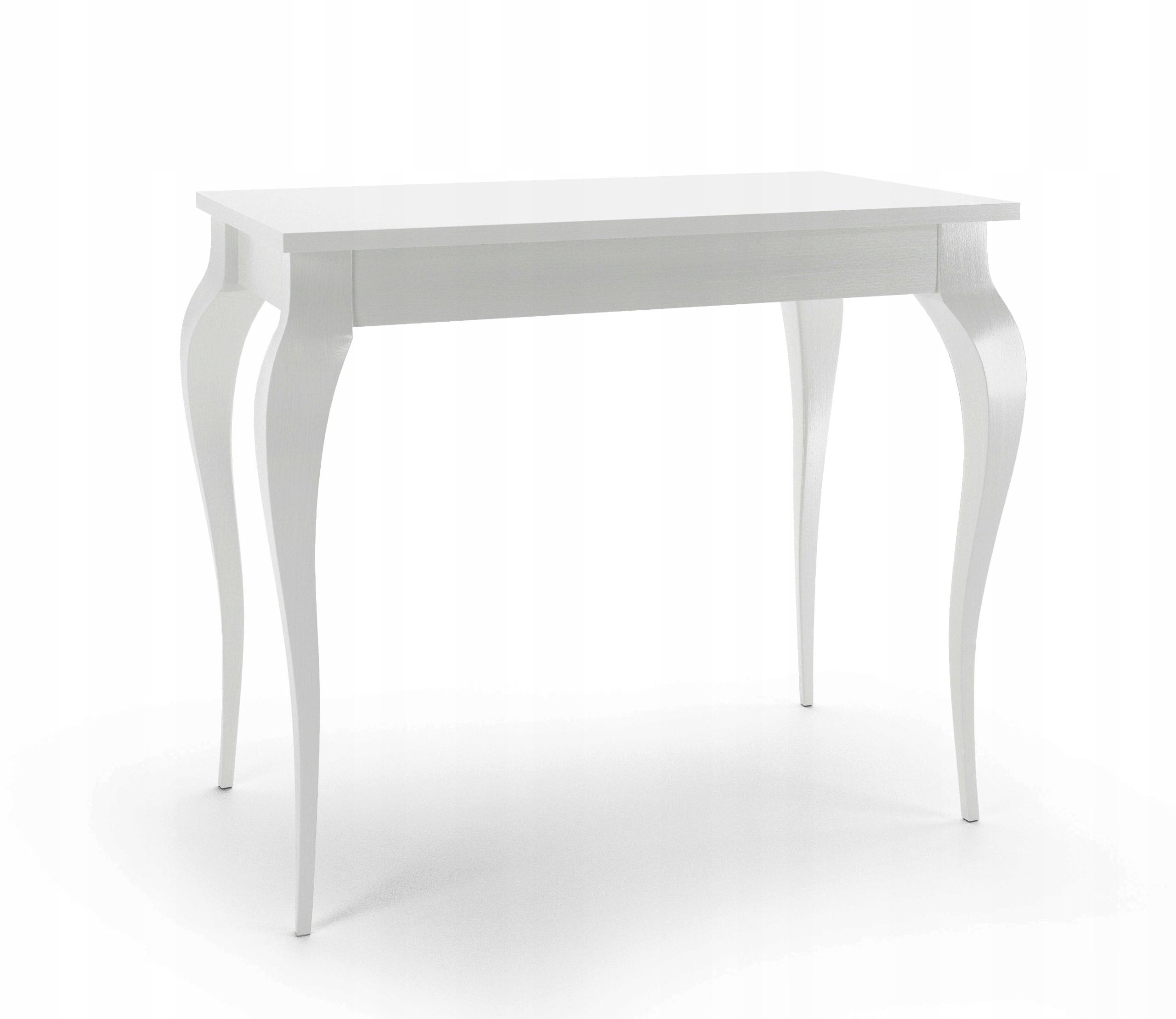 Písací stôl, Toaletný stolík Konzoly, BIELA KRÁSA glamour