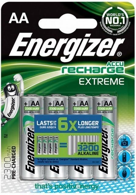4x AKUMULATORKI baterie ENERGIZER R6 AA 2300 mAh