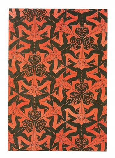 Karnet - M.C. Escher, Uśmiechnięte jaszczury ...