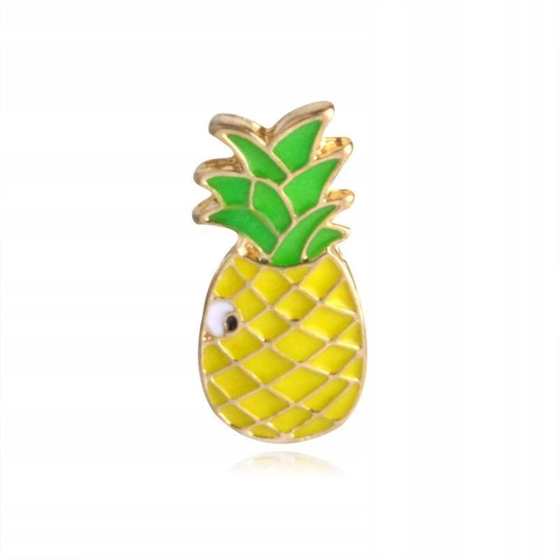 Pins złoty Ananas emaliowana przypinka