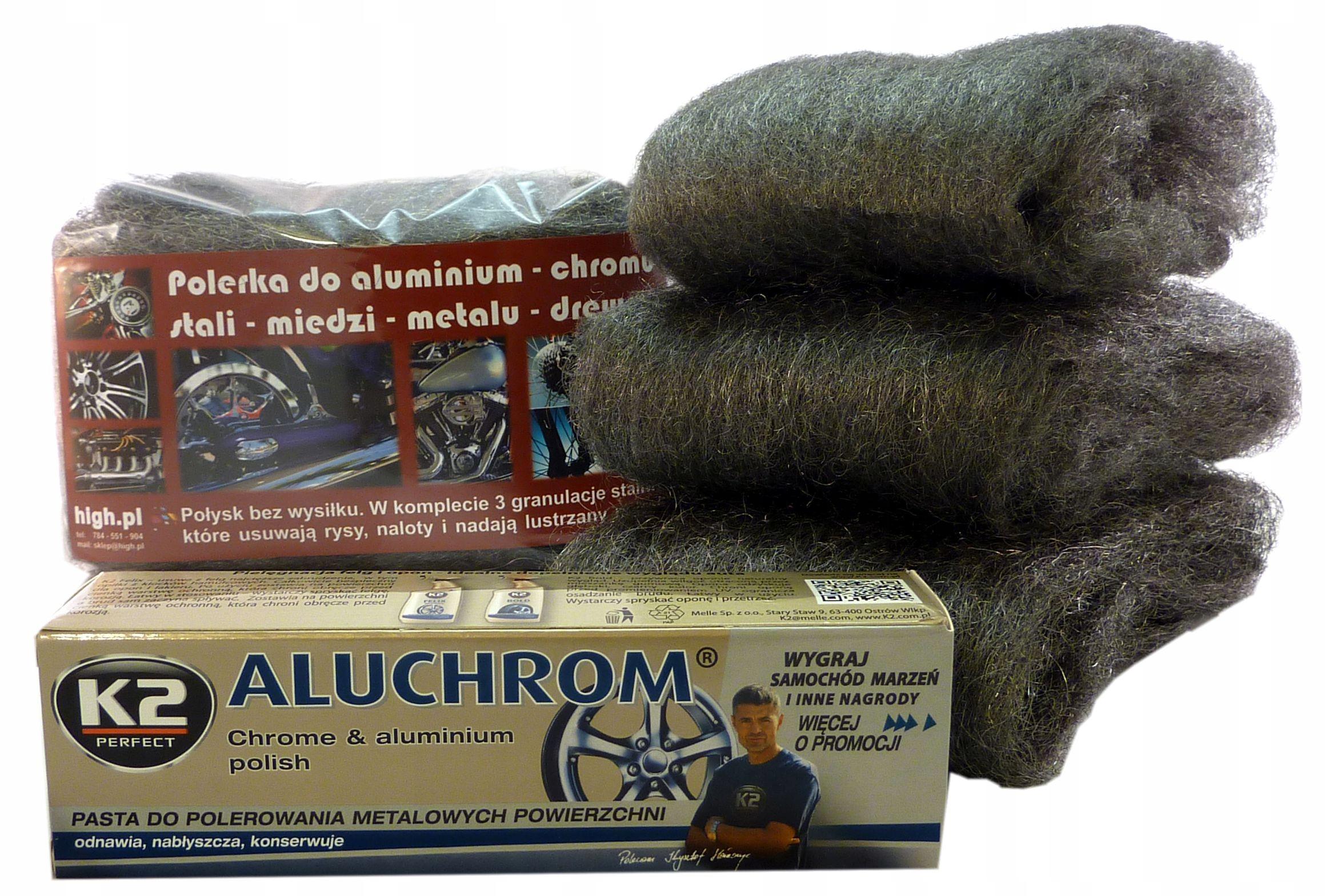 Набор для полировки металла + паста K2 Aluchrom