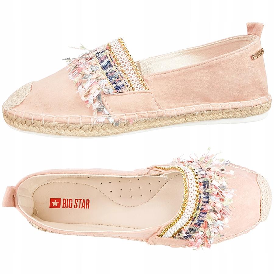 Espadryle damskie Big Star różowe buty DD274762 38